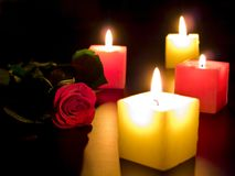 Candles in night Royalty Free Stock Photos