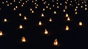 Candles in the night stock photos