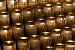 Candles in Notre Dame Royalty Free Stock Image