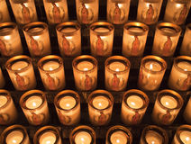 Candles At Notre Dame de Paris Stock Image