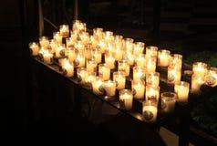 Candles in Notre-Dame de Paris Stock Photography