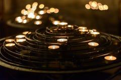 Candles in Notre-Dame de Paris. Notre-Dame de Paris - main cathedral in Paris Stock Photos