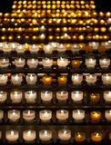 Candles in Notre Dame de Strasbourg cathedral, Alsace Royalty Free Stock Photos