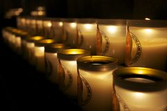 Candles at Notre Dame, Paris Royalty Free Stock Photo