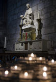 Candles in Notre Dame, Paris Royalty Free Stock Images