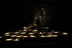 Candles from Notre-Dame- Paris Stock Image