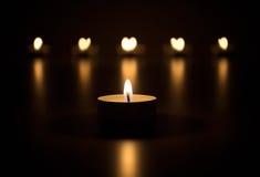 Candles o coração Imagens de Stock Royalty Free