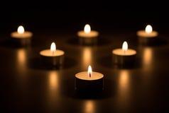 Candles o coração Imagem de Stock