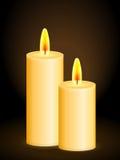 Candles o fundo ilustração do vetor