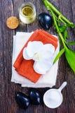 candles objects πετσέτα SPA εγγράφου Στοκ Φωτογραφίες