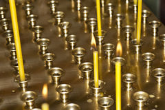 Candles in the Orthodox Christian Church Stock Images