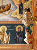 Candles in an orthodox church Royalty Free Stock Photos