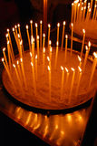 Candles in orthodox church Stock Images