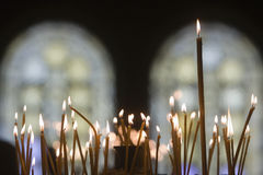 Candles Orthodox church. Candles in a orthodox church Royalty Free Stock Photography