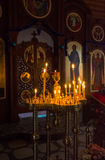 Candles in the Orthodox Church Royalty Free Stock Image