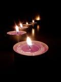 Candles path Stock Photos