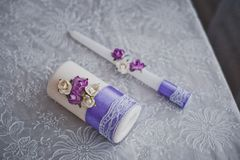 Candles with a pattern 1817. Royalty Free Stock Photography