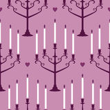 Candles pattern. Seamless vector pattern with candles Royalty Free Stock Photography