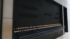 Candles and plaque at the US Holocaust Memorial Museum
