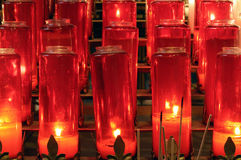 Candles for prayer offerings Stock Image
