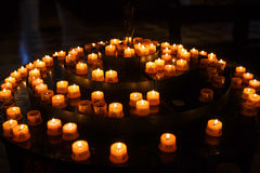 Candles for prayers in church Royalty Free Stock Photography