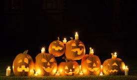 Candles and Pumpkins Royalty Free Stock Images
