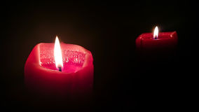 Candles. Red Candles in the Dark Royalty Free Stock Photo