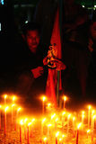 Candles at a Red Shirt Rally Stock Image