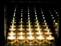 Candles Reflections Royalty Free Stock Photos