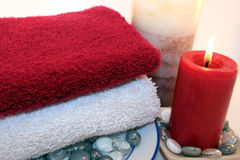 Candles and Relaxation Stock Photo