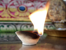 Candles for rituals of Hinduism Stock Image