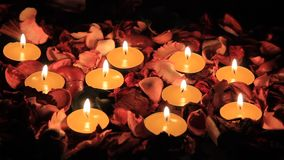 Candles and roses for Valentine Royalty Free Stock Images