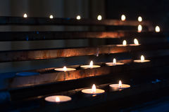 Candles in row Stock Image