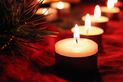 Candles row Royalty Free Stock Image