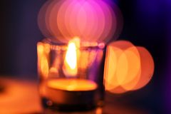 Candles in a row in Spa Zone. Some candles in a row in spa zone for relaxing time. It is late night Stock Photography