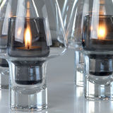 Candles(Sails). Ignited on the table Stock Photo