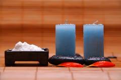 candles salt spa πέτρες Στοκ Εικόνες