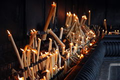 Candles in Sanctuary of Fatima Stock Photo