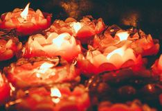 Candles scenery in a Chinese temple, Nanjing royalty free stock photo