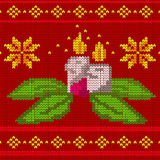 Candles seamless knit pattern Royalty Free Stock Photography