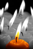 Candles selective color Royalty Free Stock Images
