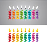 Candles set Stock Photos
