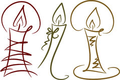 Candles, Set II royalty free illustration
