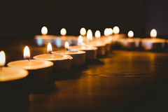 Candles in shape of cross Royalty Free Stock Image