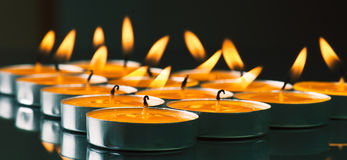 Candles shine Royalty Free Stock Images