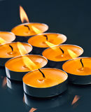 Candles shine Stock Photography