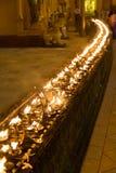 Candles in the Shwedagon pagoda, Yangon, Myanmar Royalty Free Stock Photography