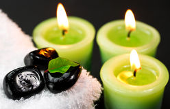 Candles in spa Royalty Free Stock Images