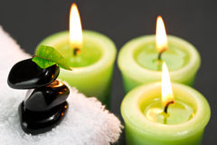 Candles in spa Royalty Free Stock Photos