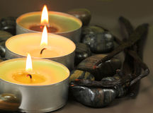Candles spa Royalty Free Stock Photos